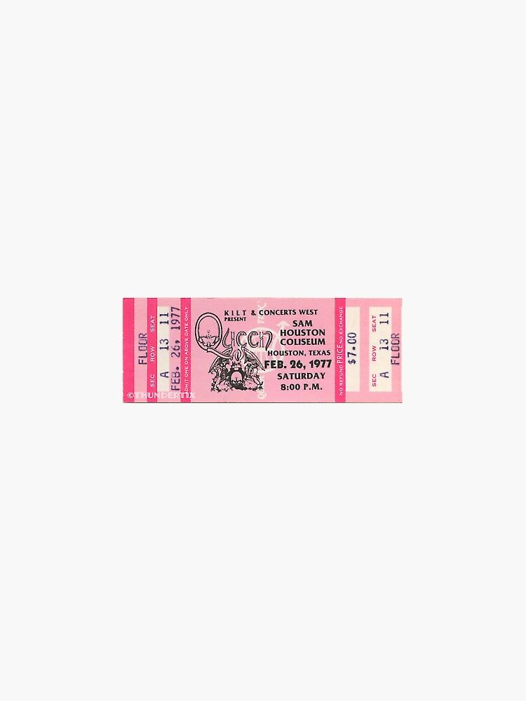 boleto de concierto vintage queen de sabrichamides
