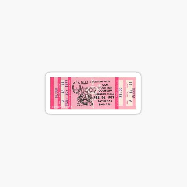 vintage queen concert ticket Sticker