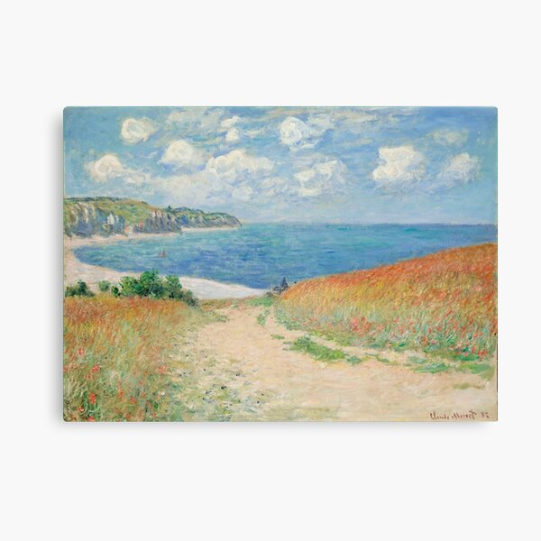 Claude Monet Path through the Wheat Fields at Pourville 1882 Canvas Print