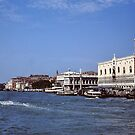 Approaching Venice by boat by Gilberte