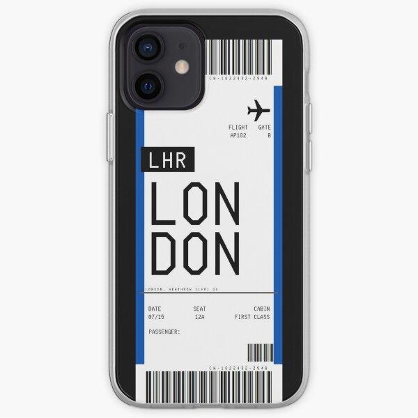 Pase de abordar de Londres Funda blanda para iPhone
