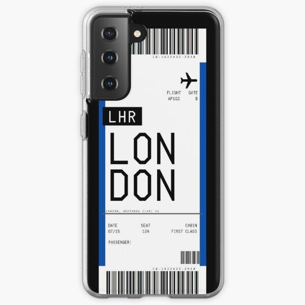 Pase de abordar de Londres Funda blanda para Samsung Galaxy