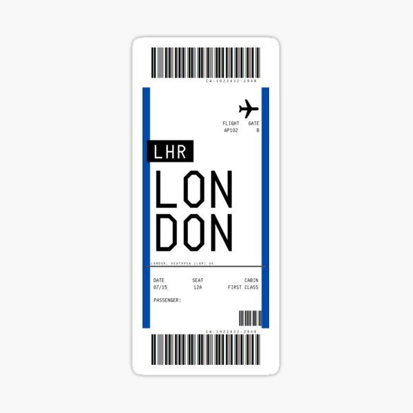London Boarding Pass Sticker