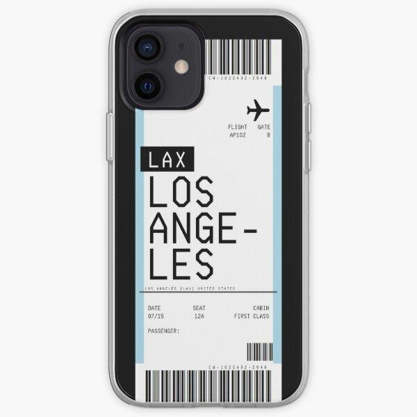 Pase de embarque de los Ángeles Funda blanda para iPhone