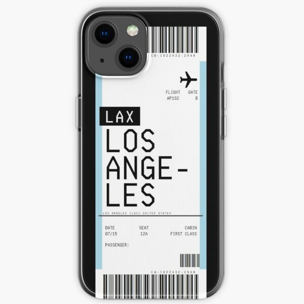 Los Angeles Boarding Pass iPhone Soft Case