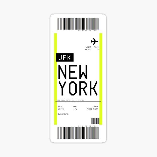Carte d'embarquement de New York Sticker