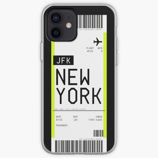 Pase de embarque de Nueva York Funda blanda para iPhone