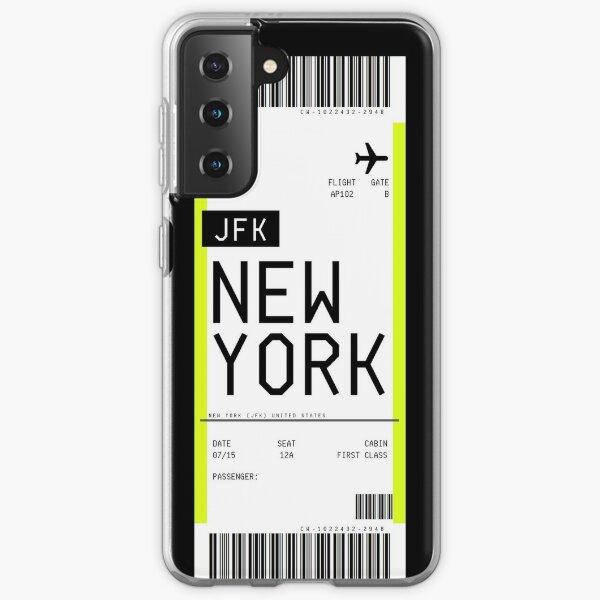 Carte d'embarquement de New York Coque souple Samsung Galaxy