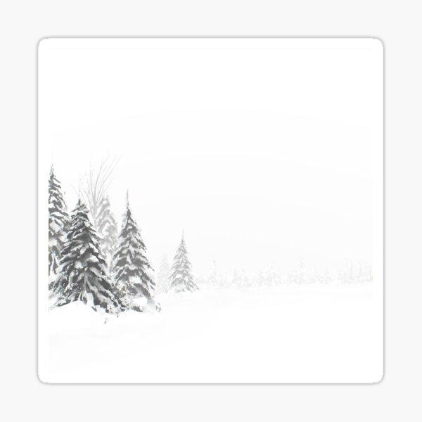 Beautiful snowy winter landscape Sticker