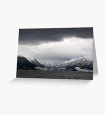 Hardangerfjorden cruise - Fjord view Greeting Card