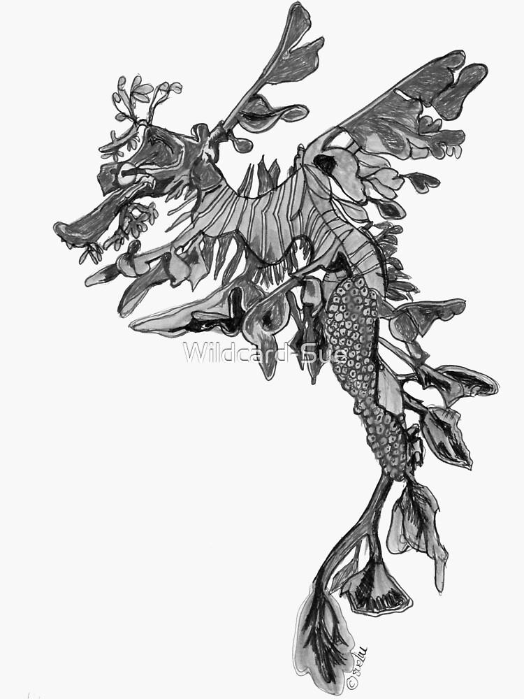 Steve the Leafy Seadragon in Grey by Wildcard-Sue