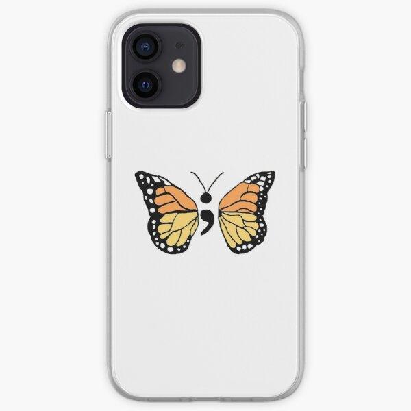 Semicolon Monarch Butterfly iPhone Soft Case