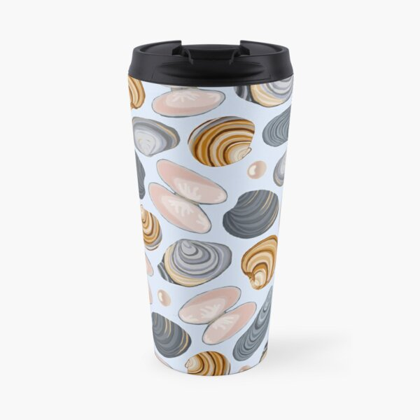 Shell and clam print Travel Mug