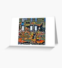 Colorful Wall  Greeting Card