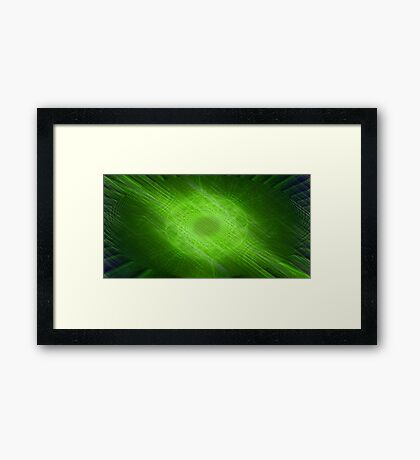 Imagine ... Green Framed Print