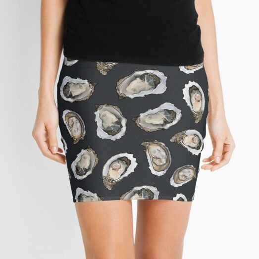 Oysters and pearls in Charcoal Mini Skirt