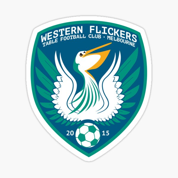 Western Flickers Table Football Club Logo Sticker