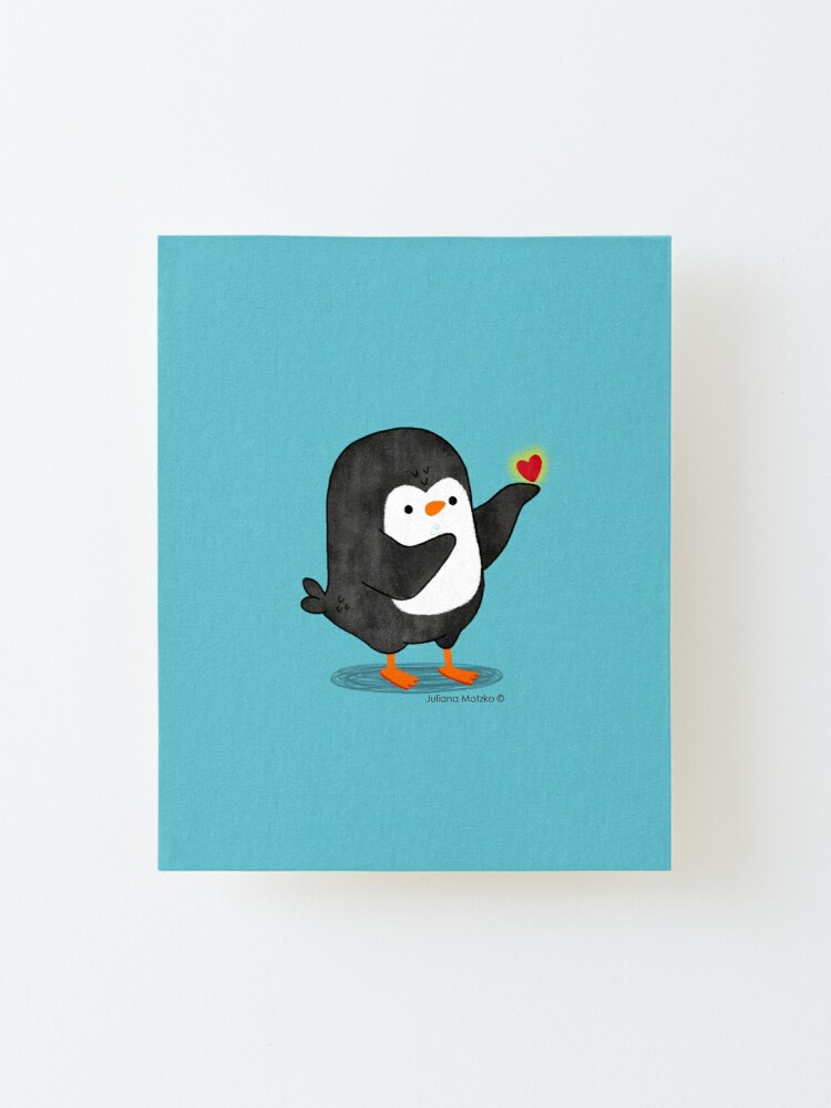 Alternate view of Spreading Love Penguin Mounted Print