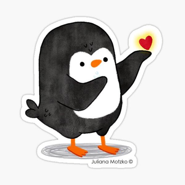 Spreading Love Penguin Sticker