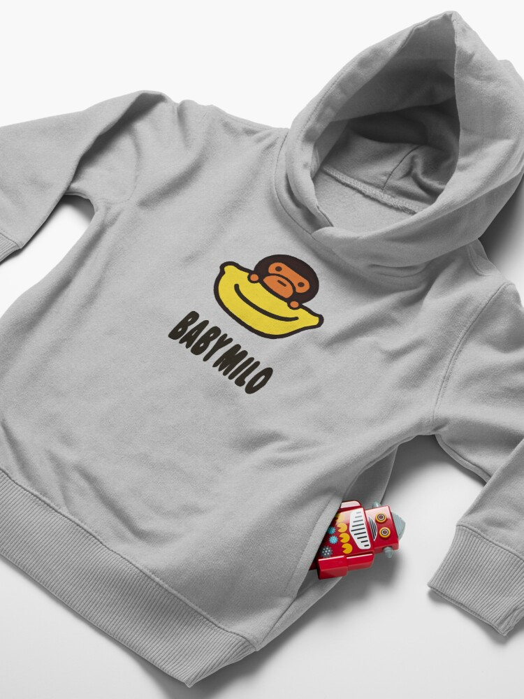 Alternate view of Baby Milo Cute Sticker Toddler Pullover Hoodie