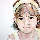 Portrait of Ellie by Kay Clark