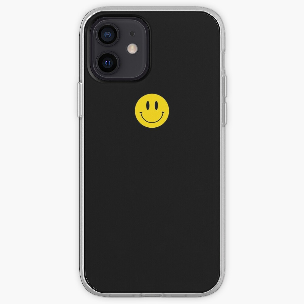 Small | Happy Face | Black | Smiley |  iPhone Case & Cover