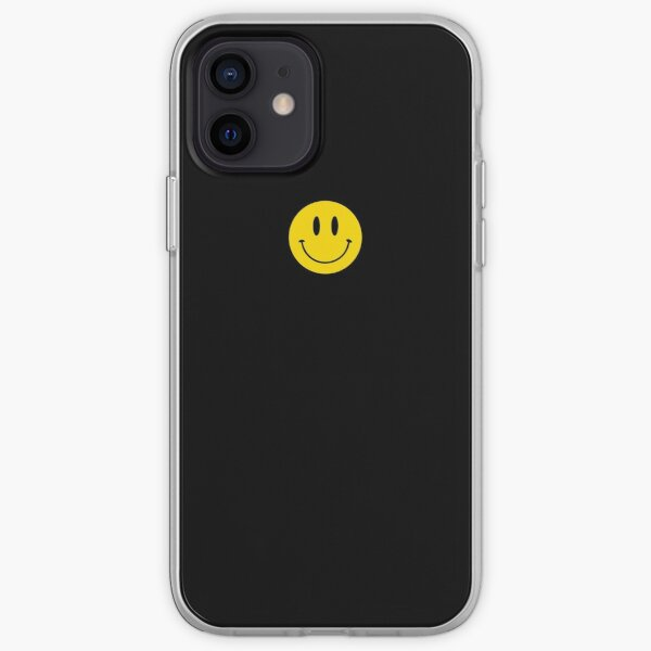 Small | Happy Face | Black | Smiley |  iPhone Soft Case