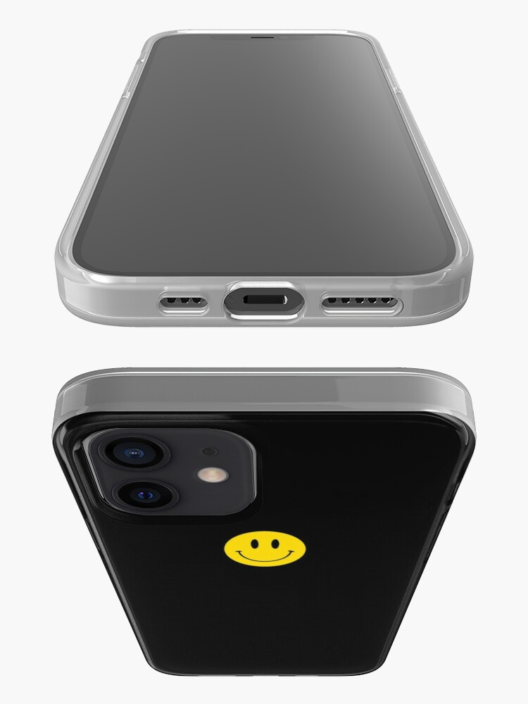 Alternate view of Small | Happy Face | Black | Smiley |  iPhone Case & Cover