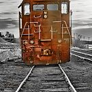 Red Locomotive by Bo Insogna