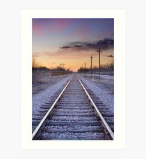 Train Tracks and Color Art Print