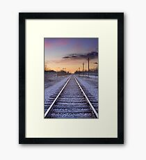 Train Tracks and Color Framed Print