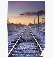 Train Tracks and Color Poster