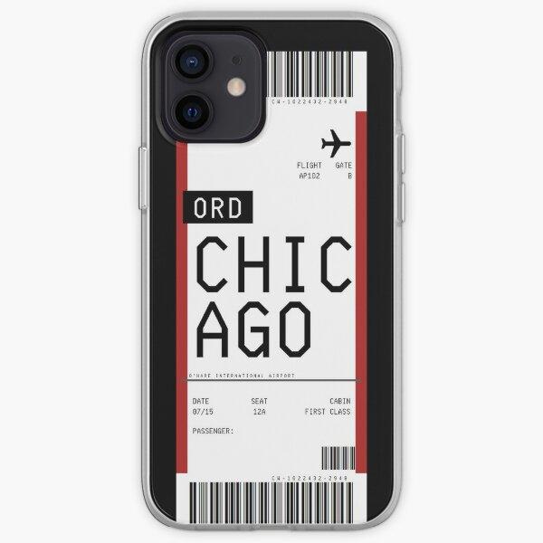 Pase de embarque de Chicago Funda blanda para iPhone