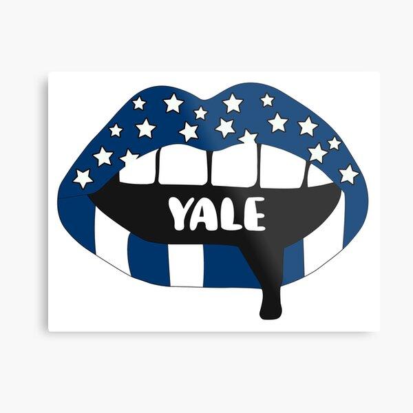 Yale Lips Metal Print