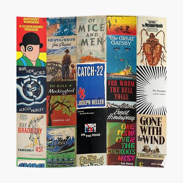 Modern Classics Literature Library Poster
