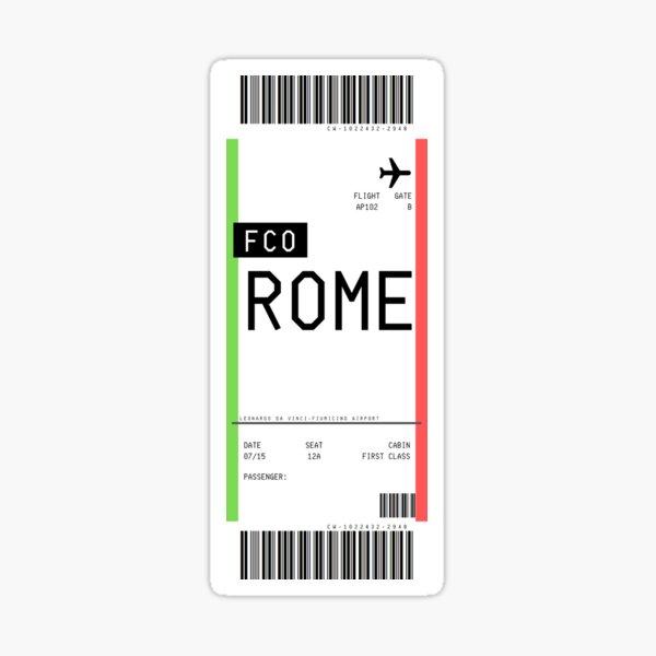 Rome Boarding Pass Sticker