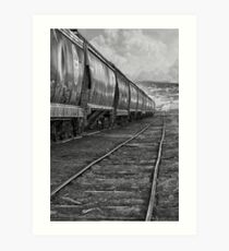 Next Tracks In Black and White Art Print