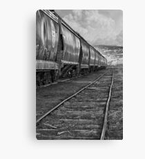 Next Tracks In Black and White Canvas Print