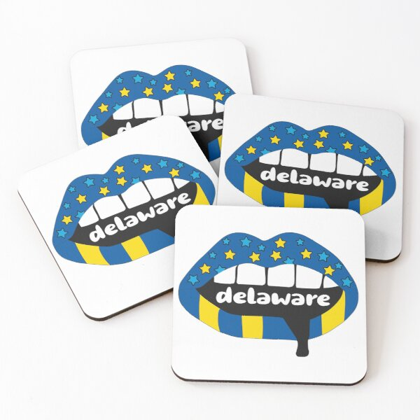 Delaware Lips Coasters (Set of 4)