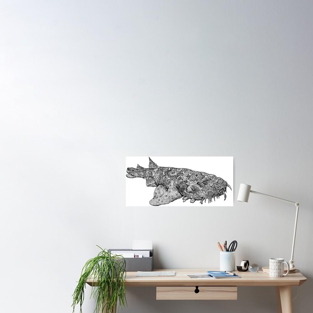 Penelope the Wobbygong Shark Poster