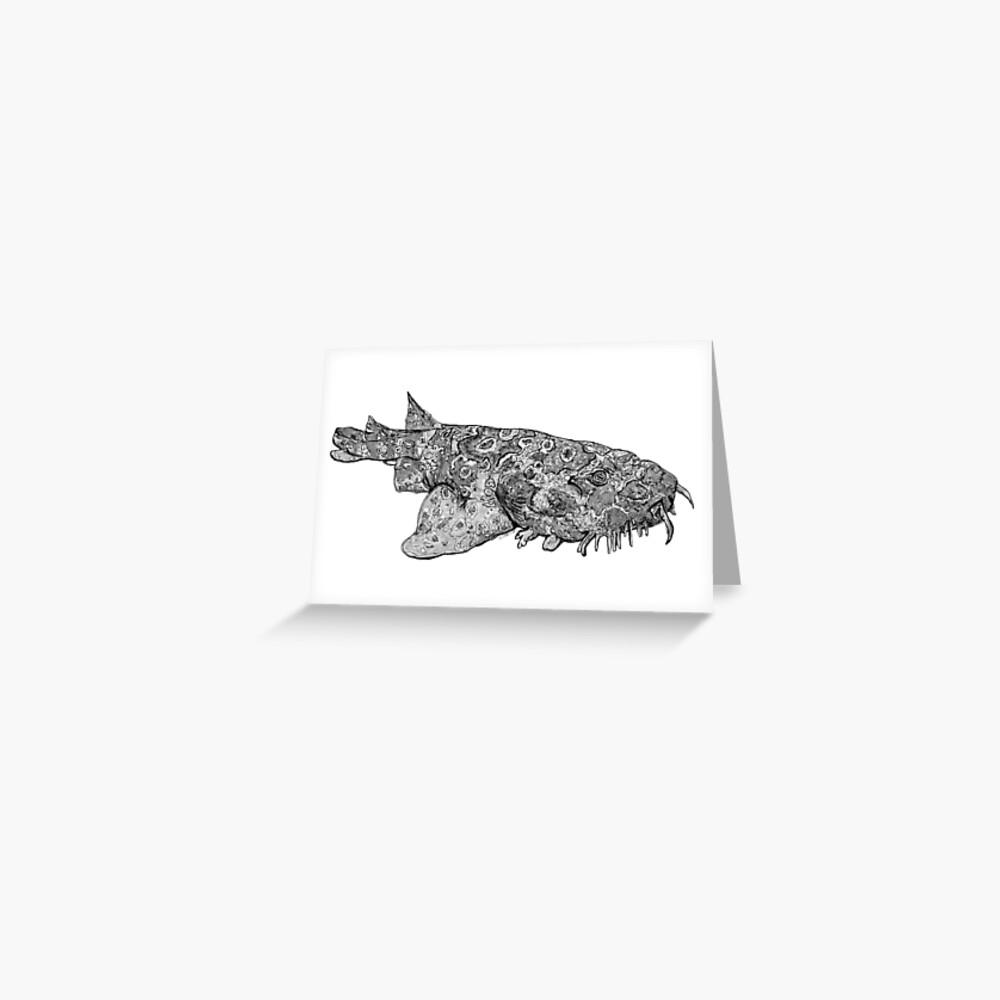 Penelope the Wobbygong Shark Greeting Card