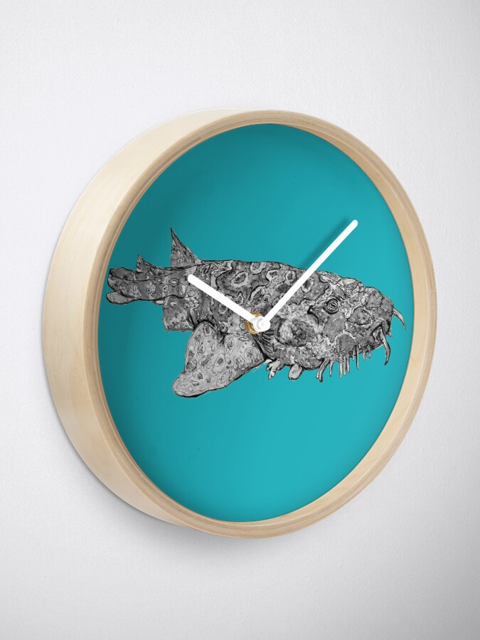 Alternate view of Penelope the Wobbygong Shark Clock
