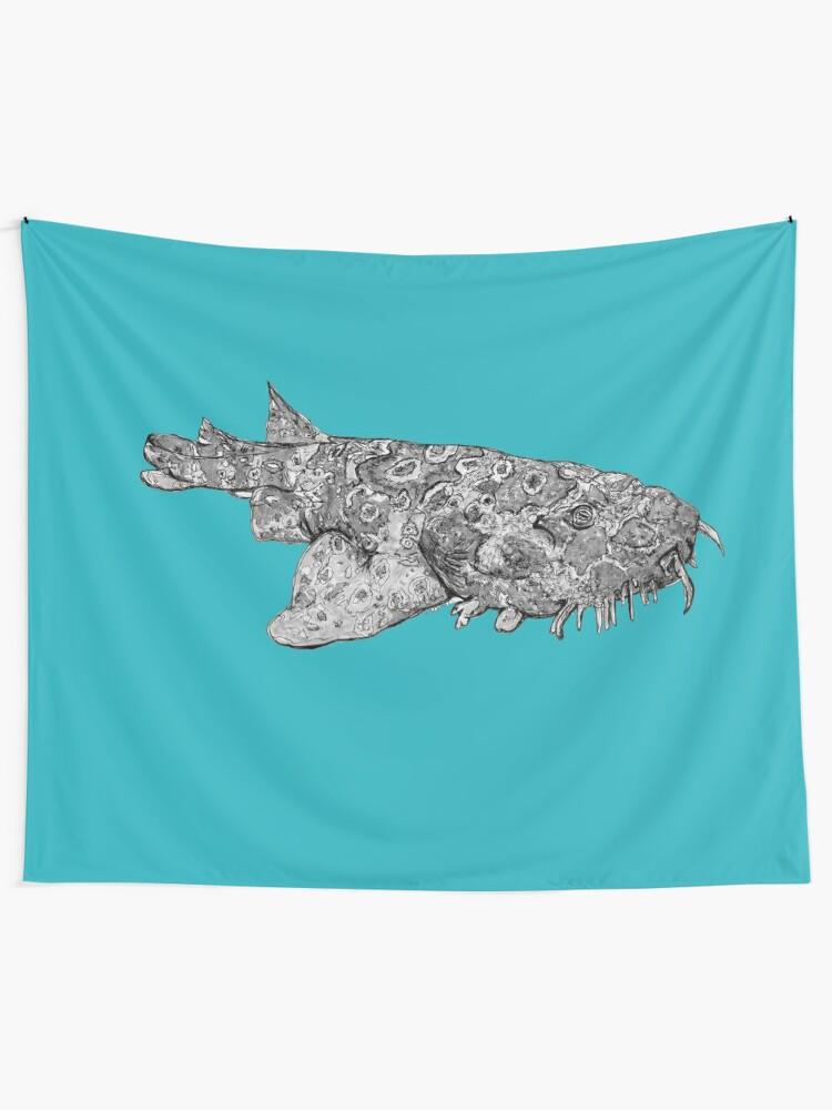 Alternate view of Penelope the Wobbygong Shark Tapestry