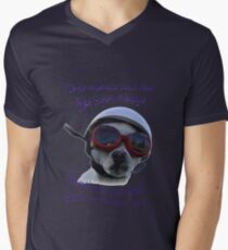 Chihuahua and the Bike Safety Message --New and Improved Tee T-Shirt