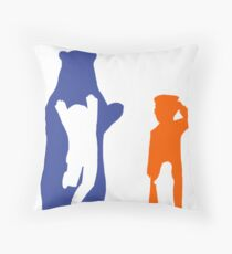 The otters and the bears Throw Pillow
