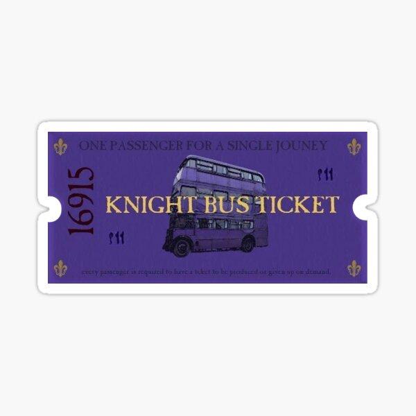 Billet de bus Knight Sticker