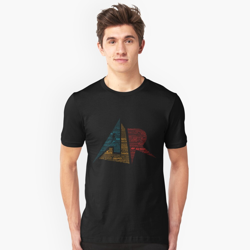 AJR typography - Brighter Default Colours Unisex T-Shirt Front