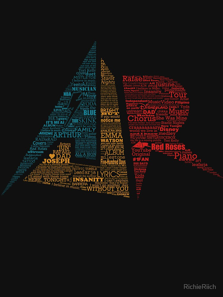 AJR typography - Brighter Default Colours by RichieRiich