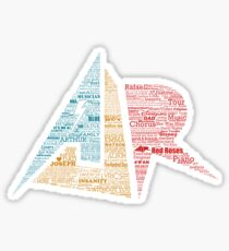 AJR typography - Brighter Default Colours Sticker