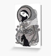 The Crone (She Swallowed a Fly) Greeting Card